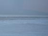 Причал и Финский залив выглядели в декабре как заснеженное поле.