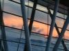 Поздний петербургский рассвет отразился в окнах терминала.