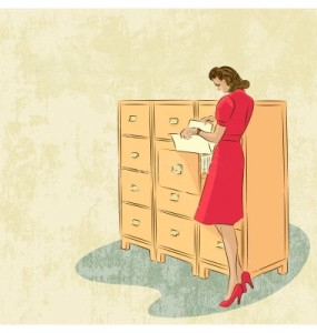 retro-background-with-woman-secretary-vector-964557+