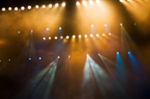 lyssatt konsertscene
